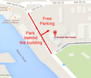 Scottish Rite Parking Map